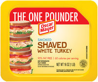 Oscar Mayer Smoked Shaved White Turkey Cold Cuts 16 oz. Tray