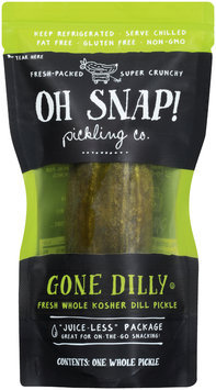 Oh Snap! Gone Dilly Fresh Whole Kosher Dill Pickle Pouch