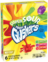 Fruit Gushers™ Super Sour Fruit Flavored Snacks