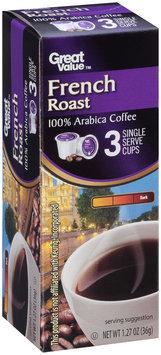 Great Value™ French Roast Dark 100% Arabica Coffee 1.27 oz. Box