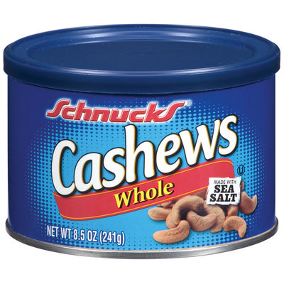 Schnucks® Whole Cashews 8.5 oz Canister