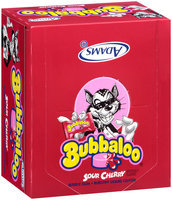 Bubbaloo® Sour Cherry Burstin' Liquid Center Bubble Gum 60 Piece Box