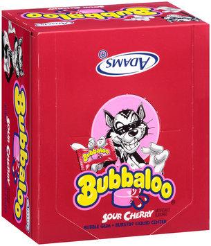 Bubbaloo® Sour Cherry Burstin' Liquid Center Bubble Gum 60 Piece Box