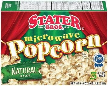 Stater Bros. Microwave Natural Flavor 3 Ct Popcorn 9.9 Oz Box