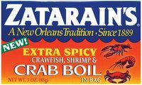 Zatarain's® Extra Spicy Crawfish, Shrimp & Crab Boil in Bag 3 oz. Box