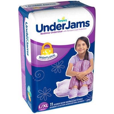 Under Jams Pampers UnderJams Bedtime Underwear Girls Size L/XL 11 count