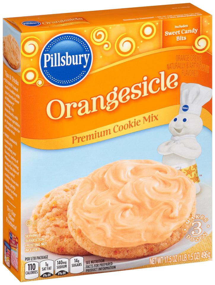 Pillsbury Orangesicle Premium Cookie Mix 17.5 oz. Box
