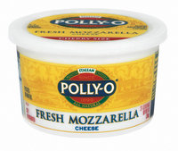 Polly-O Fresh Mozzarella Balls Cherry Size Cheese 9 Oz Tub