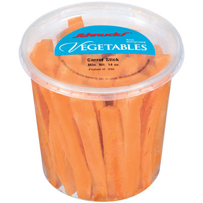 Schnucks Carrot Sticks Vegetables 14 Oz Plastic Tub
