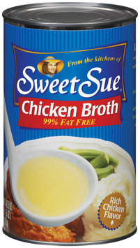Sweet Sue Chicken 99% Fat Free Club Pack Broth 49.5 Oz Can