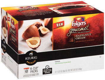 Folgers Gourmet Selections® Hazelnut Cream Coffee K-Cup Packs 12 ct Box