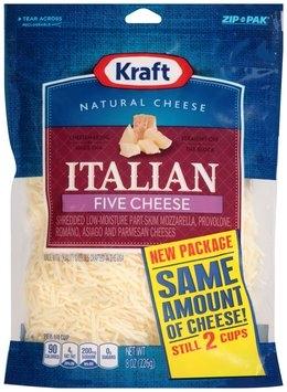 Kraft Shredded Italian Five Cheese Blend 8 oz. ZIP-PAK®