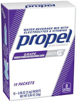 Propel® Grape Water Beverage Mix with Electrolytes & Vitamins 10-0.08 oz. Packets