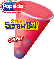 Popsicle 2 Ball Screwball Cherry Single Serve Novelty
