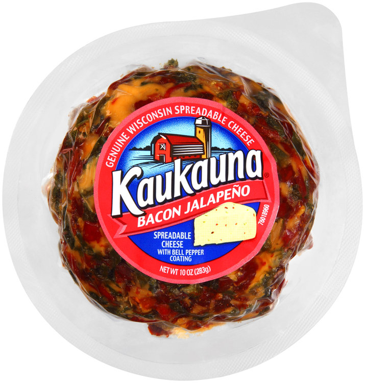 Kaukauna® Bacon Jalapeno with Bell Pepper Coating Spreadable Cheese Ball