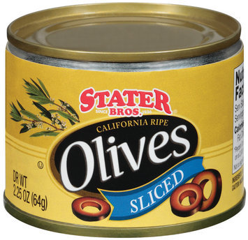 Stater Bros. California Ripe Sliced Olives