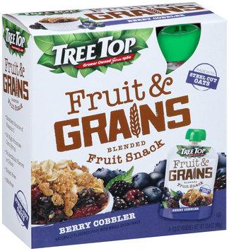 Tree Top® Fruit & Grains Berry Cobbler Blended Fruit Snack 4-3.2 oz. Pouch