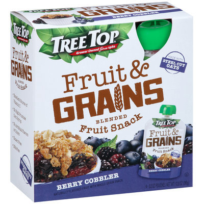 Tree Top® Fruit & Grains Berry Cobbler Blended Fruit Snack 4-3.2 oz. Pouch