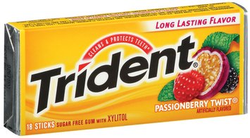 Trident Passionberry Twist Sugar Free Gum with Xylitol 18 Stick Pack