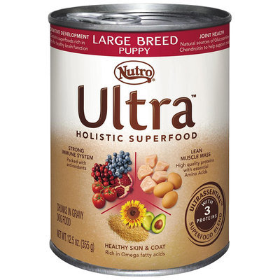 Nutro® Ultra™ Large Breed Puppy Chunks in Gravy Dog Food 12.5 oz. Can