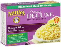 Annie's Homegrown® Creamy Deluxe Rotini & White Cheddar Sauce Macaroni Dinner 9.3 oz. Box