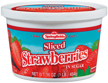 Springfield Fresh Frozen In Sugar Strawberries 16 Oz Tub