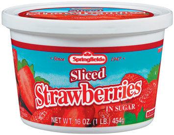 Springfield Fresh Frozen In Sugar Strawberries 16 Oz Tub