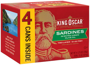 King Oscar® Two Layer Sardines in Extra Virgin Olive Oil