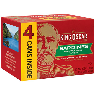 King Oscar® Two Layer Sardines in Extra Virgin Olive Oil 4-3.75 oz. Box
