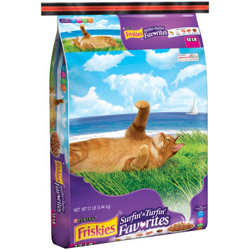 Purina Friskies Surfin' & Turfin' Favorites Cat Food 12 lb. Bag
