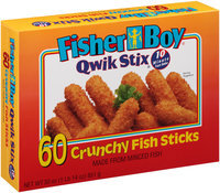 Fisher Boy® Qwik Stix® Crunchy Fish Sticks 60 ct Box