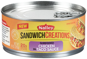 Nalley® Sandwich Creations™ Shredded Chicken in Taco Sauce 10 oz. Can