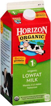 Horizon Organic® 1% Lowfat Milk 0.5 gal Carton