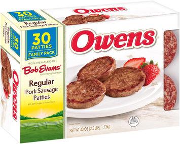 Owens® Regular Pork Sausage Patties 30 ct Box