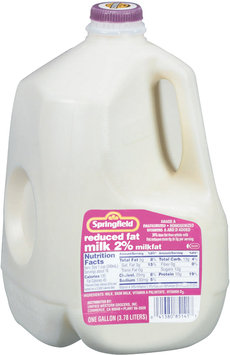 Springfield 2% Reduced Fat  Milk 1 Gal Jug
