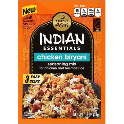 Simply Asia Indian Essentials Chicken Biryani Seasoning Mix 1.1 oz. Envelope