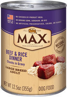 Nutro® MAX® Large Breed Adult Beef & Rice Dinner Chunks in Gravy 12.5 oz. Can