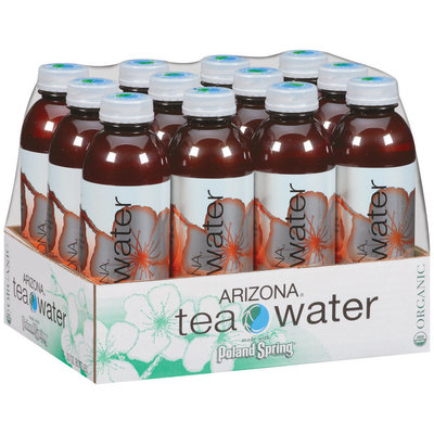 Poland Spring Mandarin Orange Organic Green Tea Arizona Tea Water 12-20 fl. oz. Plastic Bottles