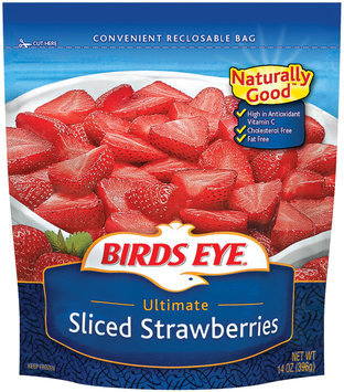 Birds Eye Sliced Ultimate Strawberries 14 Oz Bag