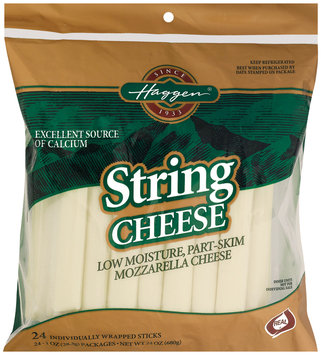 Haggen String Mozzarella Cheese 24 Oz Peg