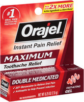 Orajel™ Maximum Strength Gel for Toothache Oral Pain Reliever 0.25 oz. Box