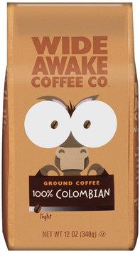 Wide Awake Coffee Company 100% Colombian Light Ground Coffee 12 Oz Stand Up Bag