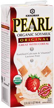 Kikkoman Pearl® Organic Original Soymilk 32 fl. oz. Carton