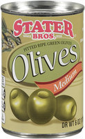 Stater Bros.® Pitted Ripe Geen Medium Olives 6 oz Pull Top Can
