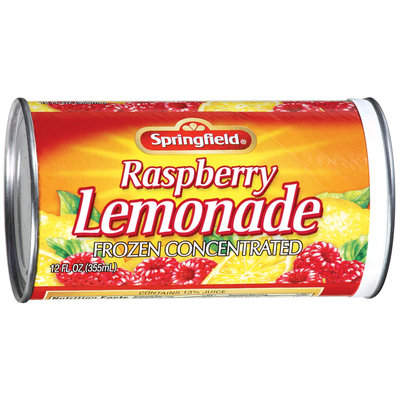 Springfield Raspberry Frozen Concentrated Lemonade 12 Oz Can