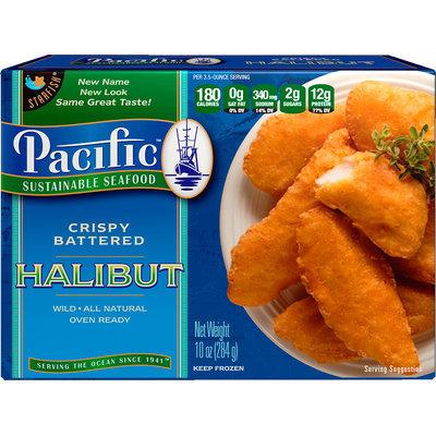 Pacific Sustainable Seafood™ Crispy Battered Halibut 10 oz. Box