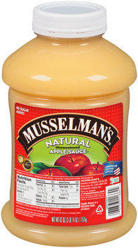 Musselman's® Natural Unsweetened Apple Sauce 62 oz. Jar