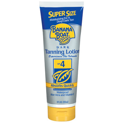 Banana Boat Dark SPF 4 Tanning Lotion 8 Oz Tube