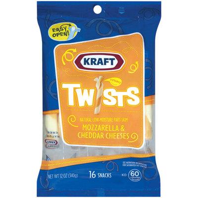 Kraft Natural Cheese Snacks Mozzarella & Cheddar Low-Moisture Part-Skim 16 Ct Cheese Twists 12 Oz Peg