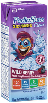 PediaSure Sidekicks® Clear Nutrition Drink Wild Berry 6.8 fl. oz. Cartons